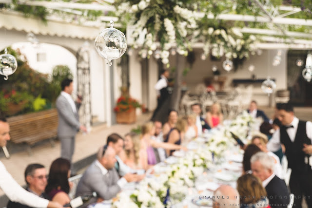 Wedding reception at Villa Oliviero