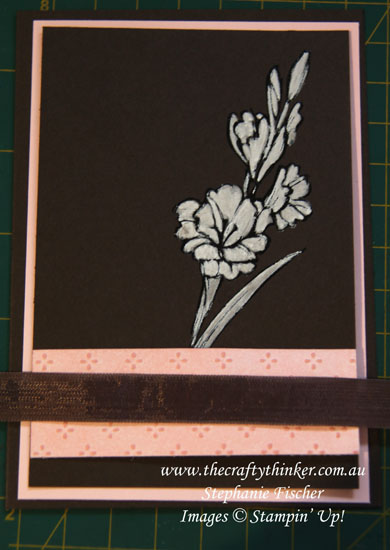 Stampin Up, #thecraftythinker, #crazycraftersbloghighlights, Gift of Love, Painting on a dark background, Stampin Up Australia Demonstrator, Stephanie Fischer, Sydney NSW