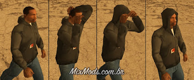 gta sa san mod cleo colocar levantar capuz touca hood up