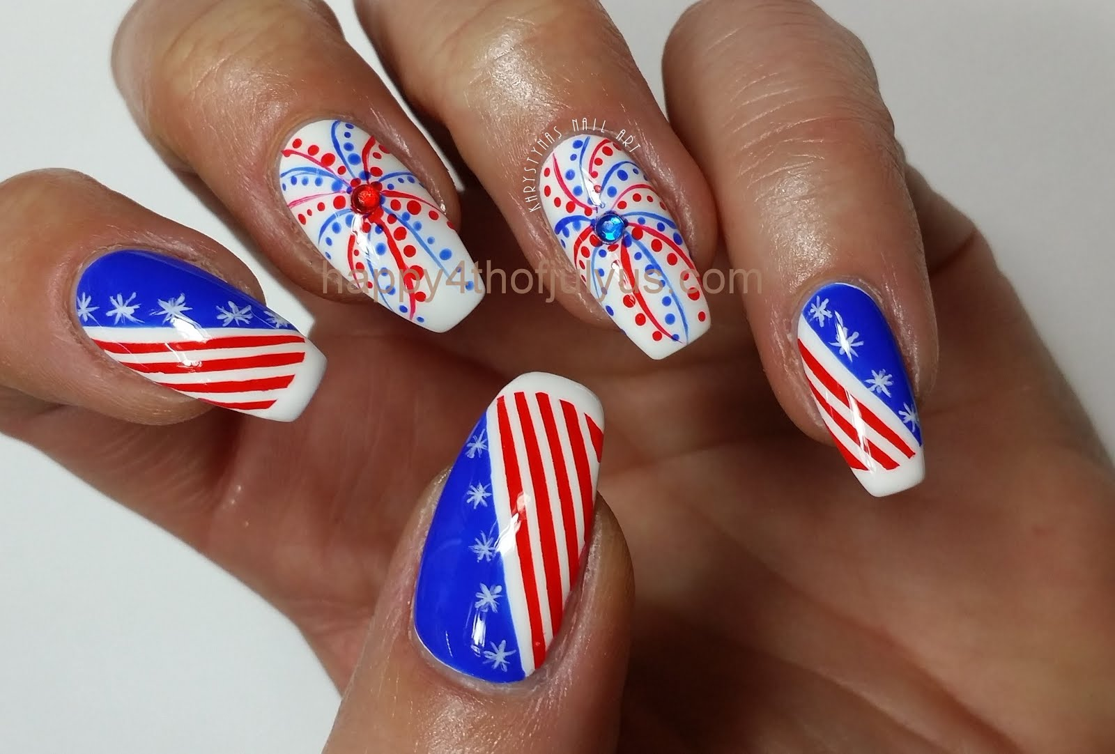 4th Of July Nail Arts