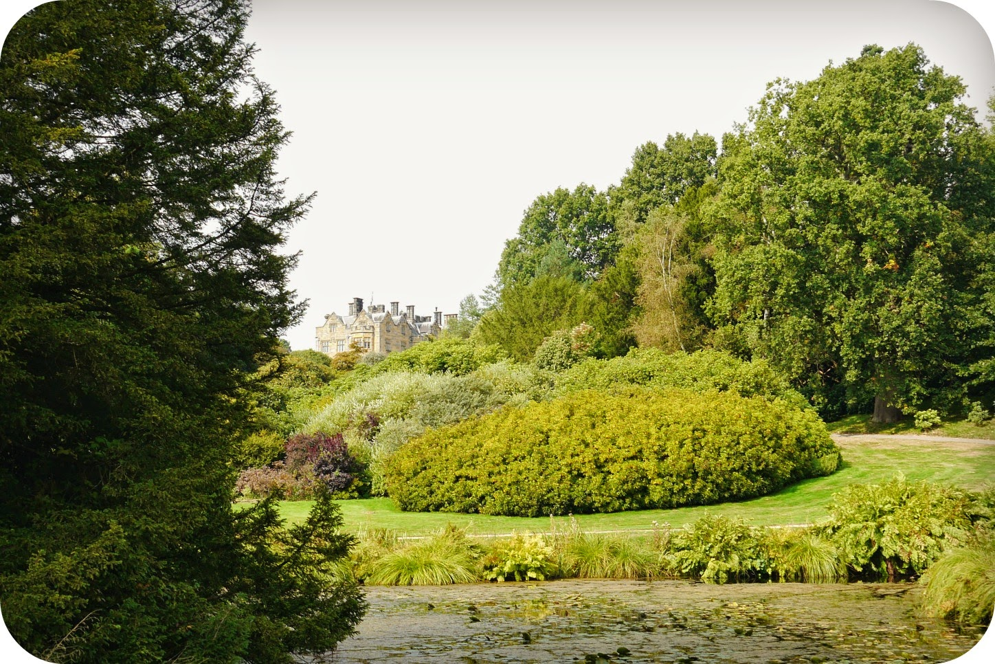 View to Scotney Castle house