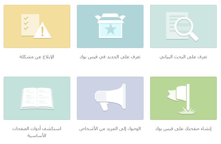 2. مراسلة الفيس بوك عن طريق مركز المساعدة