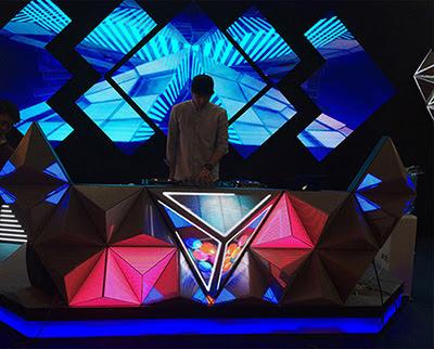 màn hình led sử dụng cho quán bar vũ trường