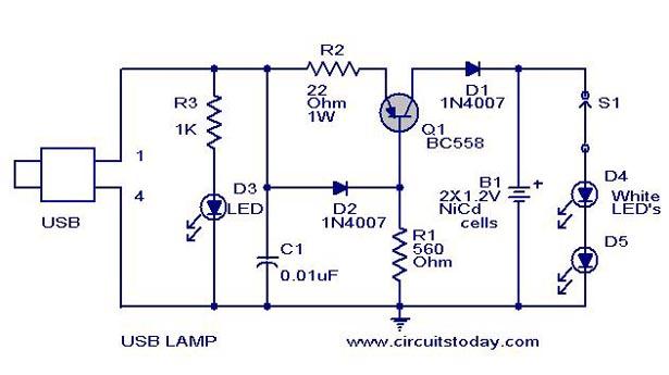 Usb Lamp Circuit Diagram