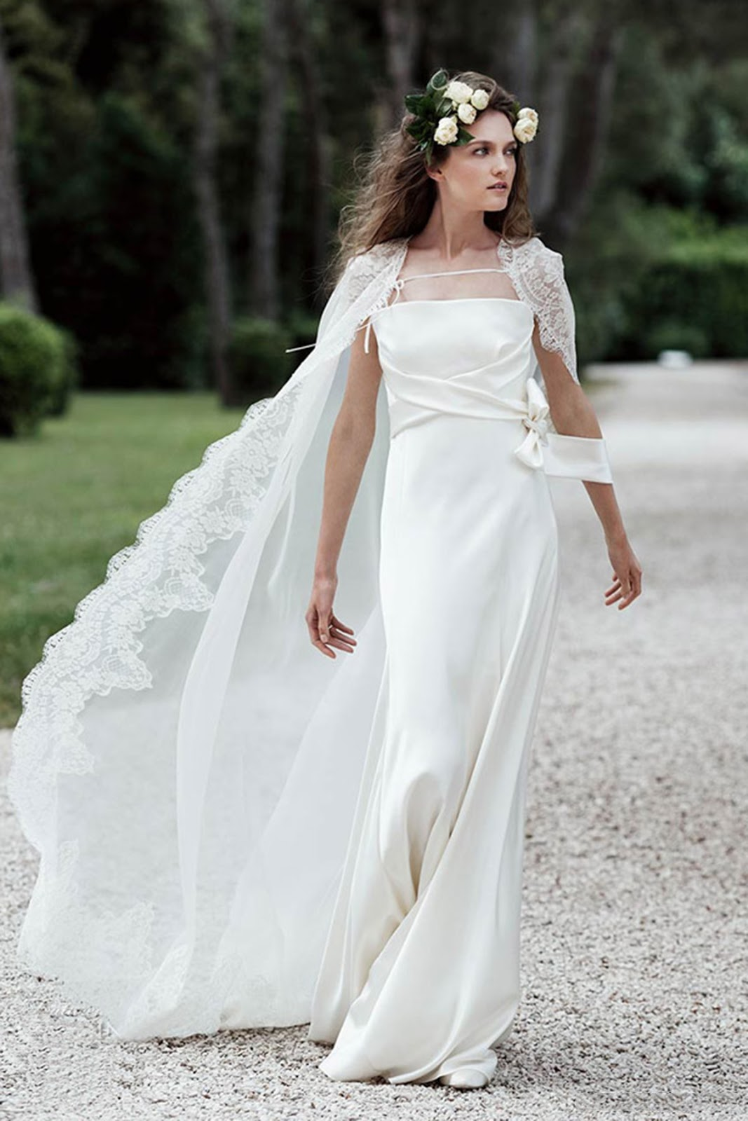 archive bustier for wedding dress Simple Strapless Natural Floor Length Satin Ivory Sleeveless Wedding Dress with Draped