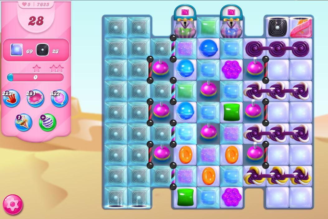 Candy Crush Saga level 7625