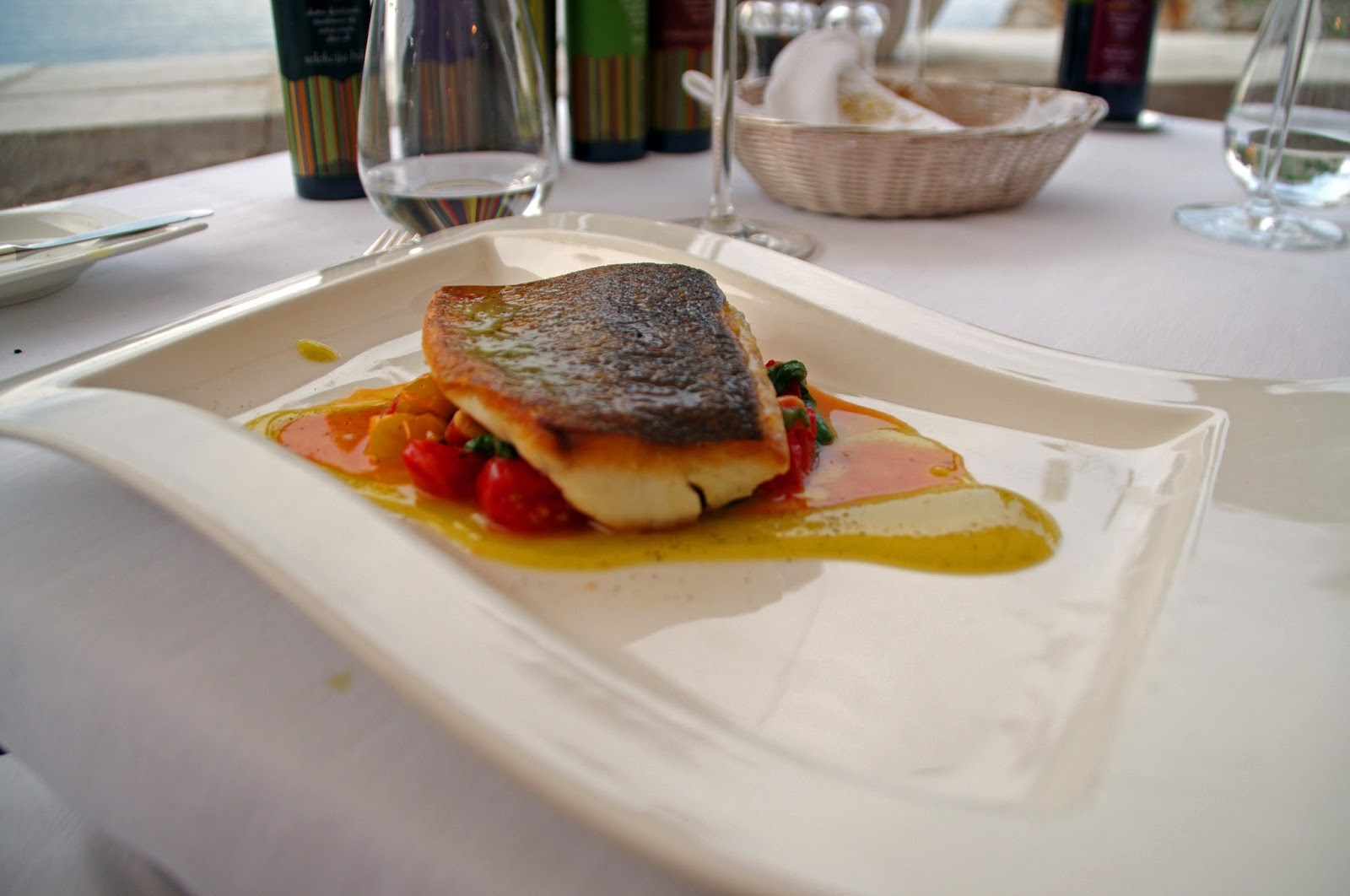 Sea Bass Main Course Nautika Restaurant Dubrovnik
