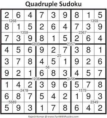 Answer of Quadruple Sudoku Puzzle (Fun With Sudoku #337)