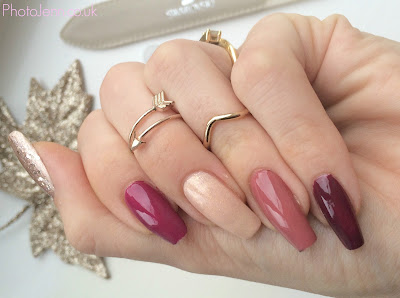 autumn-nails-barry-m-golden-sands-no7-foxglove-essie-max-factor-candy-rose-Rimmel
