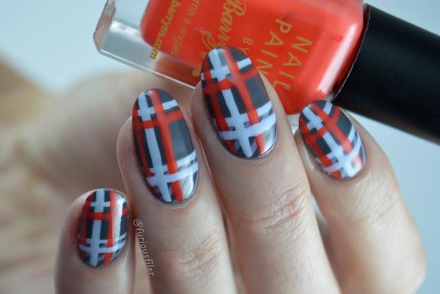 #31dc2016 furious filer tartan tweed aw16 nail art