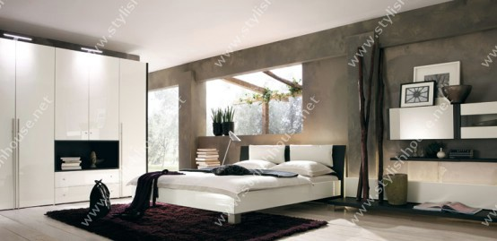 Stylish bedroom for modern house