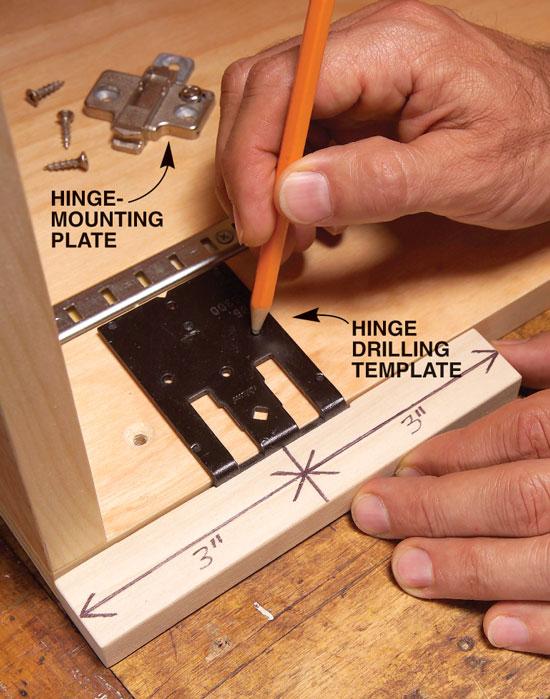 Ikea hinge template