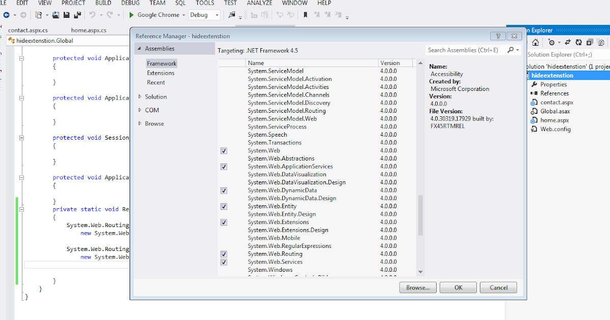 Extensionless url rewriting asp net gridview