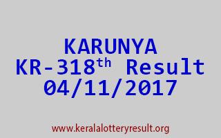 KARUNYA Lottery KR 318 Results 4-11-2017