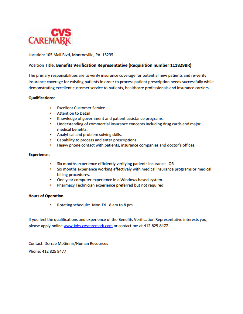the psnk work bench  open positions at caremark