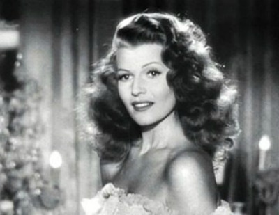 Rita Hayworth in Gilda hair toss pose