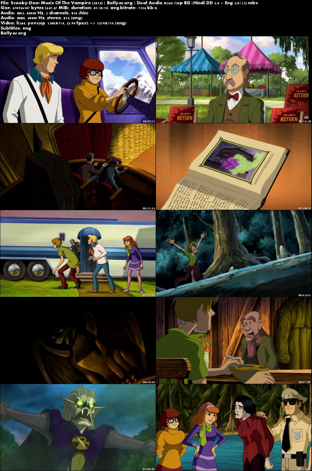 Scooby-Doo Music Of The Vampire 2012 BDRip 650MB Hindi Dual Audio 720p Download
