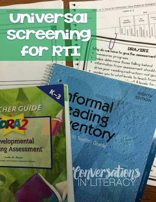 DRA and IRI for Universal Screenings in RTI