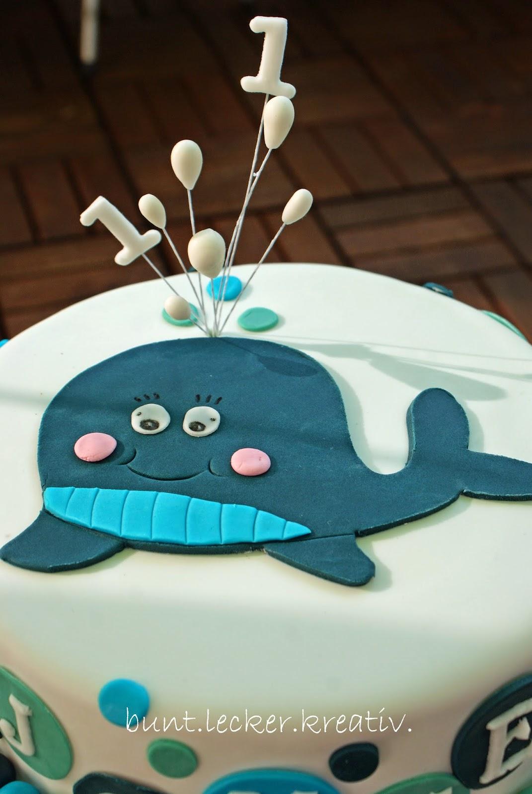 Wal Torte Zum 1 Geburtstag Bunt Lecker Kreativ