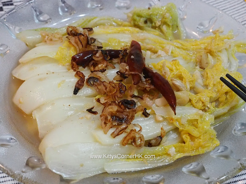 Napa Cabbage Stir Fry DIY recipe  養顏大白菜自家食譜