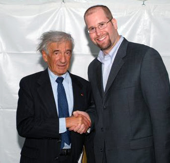 Elie Wiesel and Rabbi Jason Miller