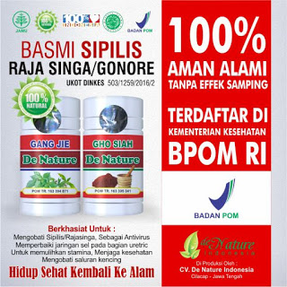 Obat kencing nanah alami dari DeNature