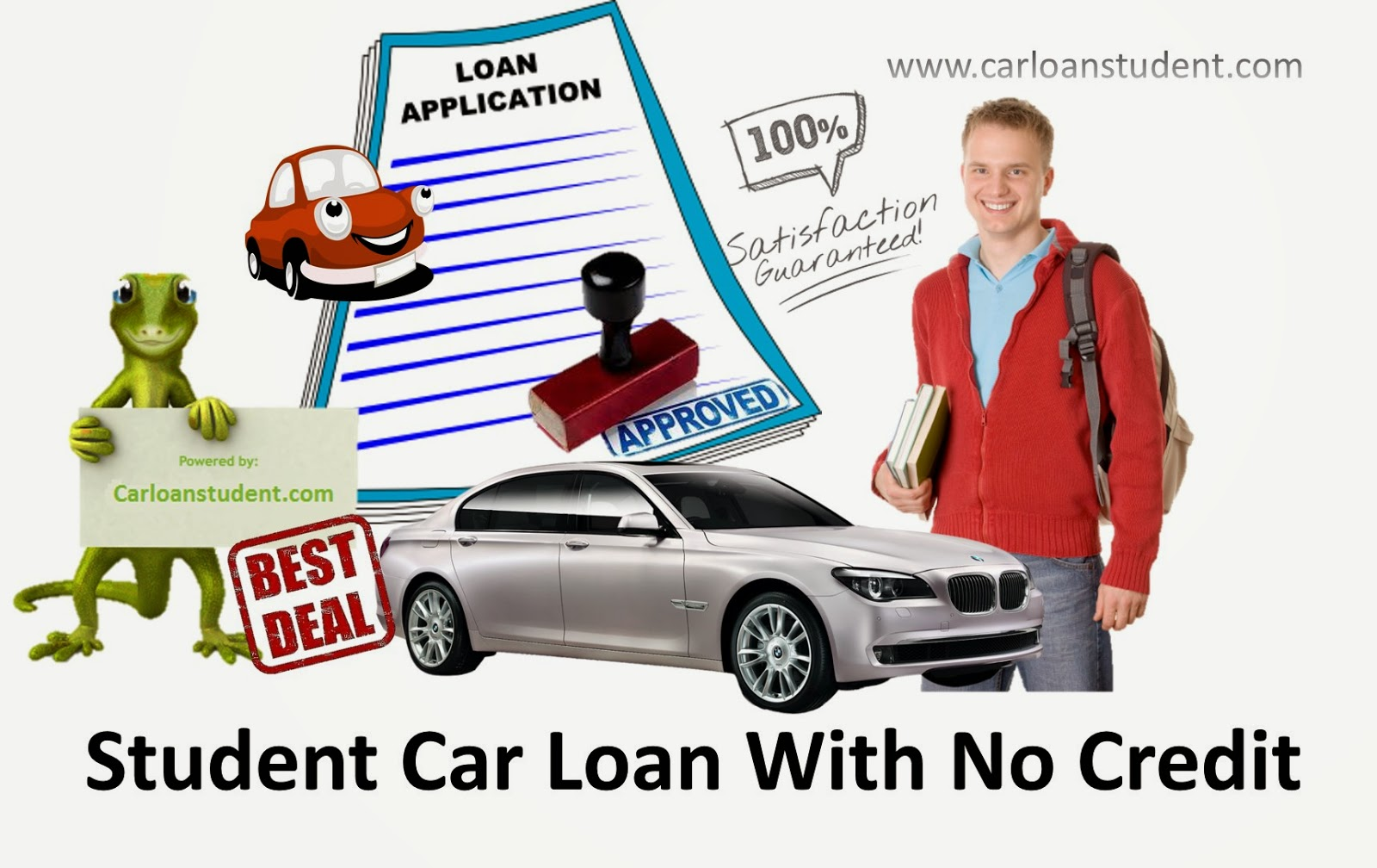 Apply for student car loan with no credit