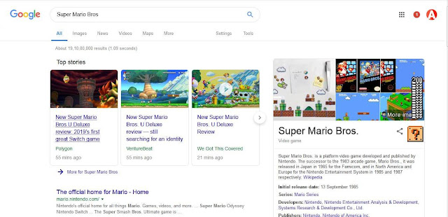 super mario bros google trick