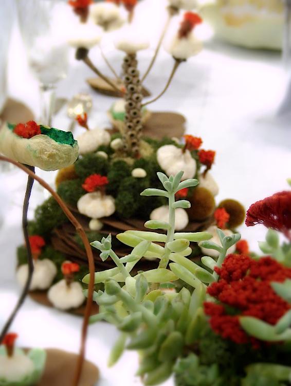 segnaposto e centrotavola per Abilmente Roma 2014, Atelier del Natale Creativo