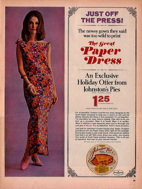 The 60s Paper Dresses Vintage Everyday