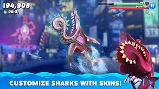 تحميل لعبة hungry shark world مهكرة جاهزة