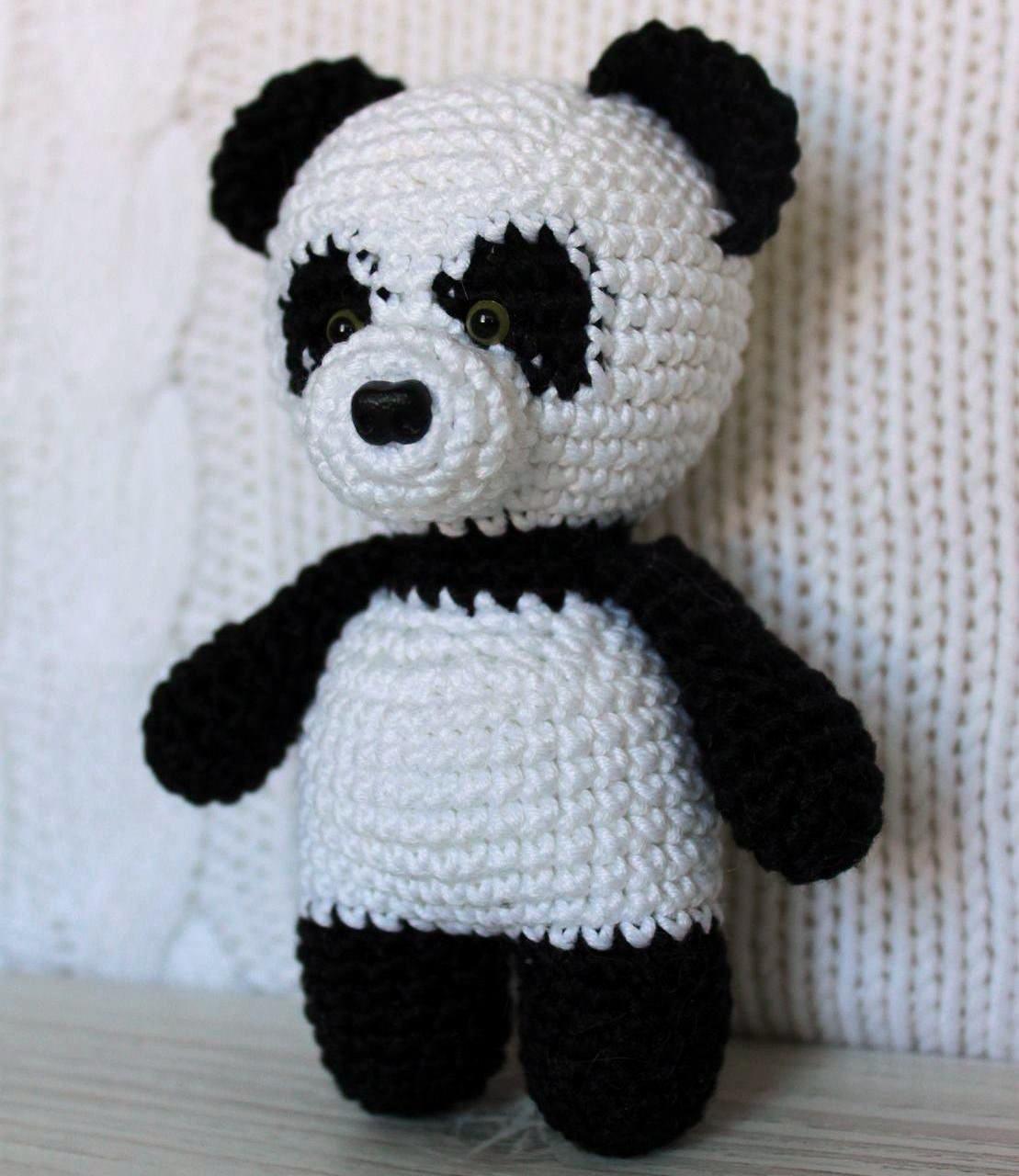 Панда игрушка амигуруми мастер-класс крючком