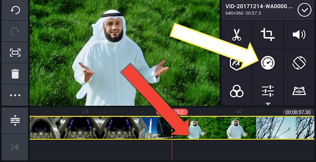 Mempercepat dan Memperlambat Gerakan Video