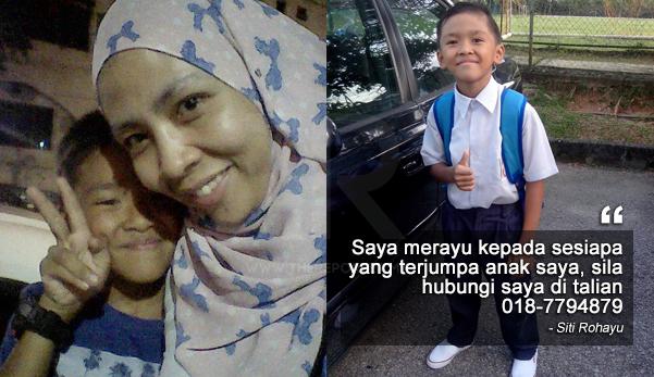 Saya merayu kepada semua tolong viralkan gambar anak saya yang hilang ni