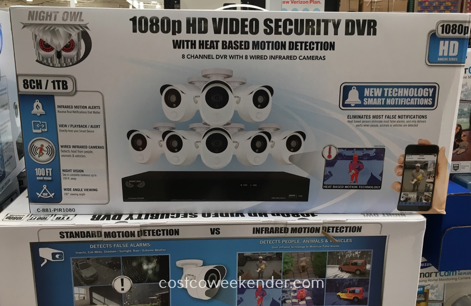 Camera Surveillance Exterieur Costco Night Owl C 881 Pir1080 8 Camera Hd Video Security System