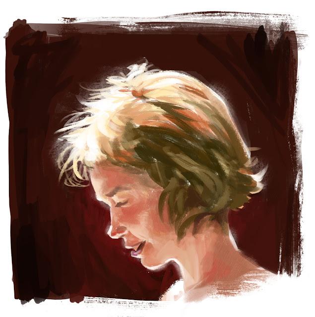 douglas deri, deri, art, fineart, oil, head studies, head paint, paint,head, expressions , tutorial, brush, girl