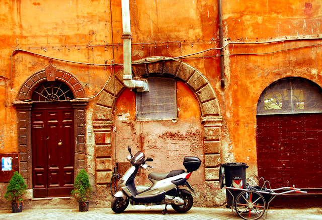 Rome is famous for the narrow streets