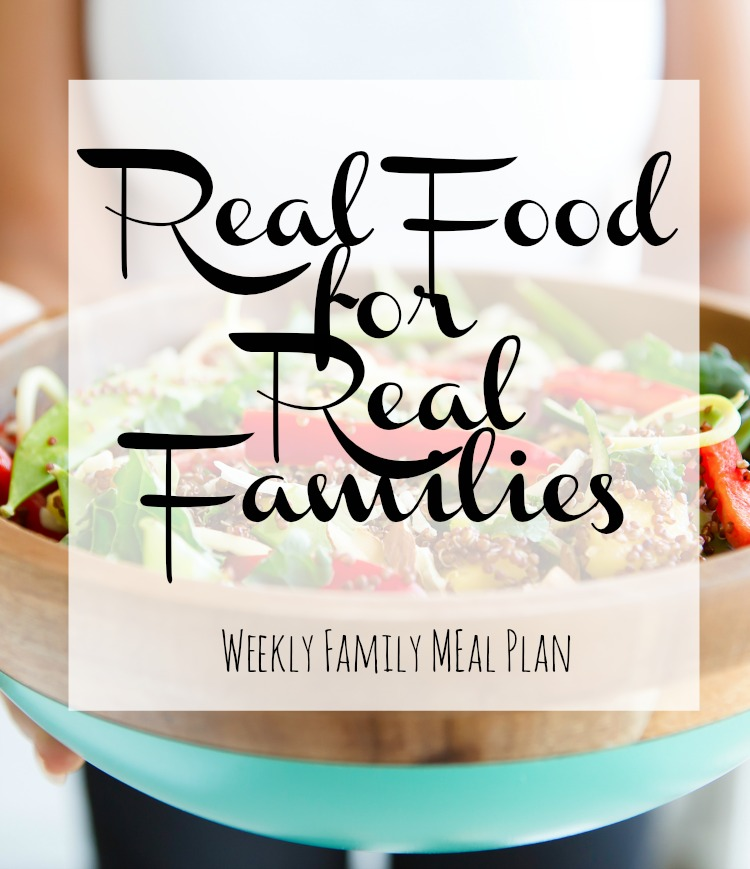 Weekly Family Meal Plan 2017 Week 35