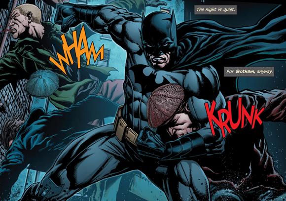 Batman es un experto luchador