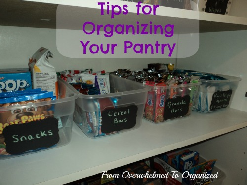How To Organize Your Pantry From Overwhelmed Organized
