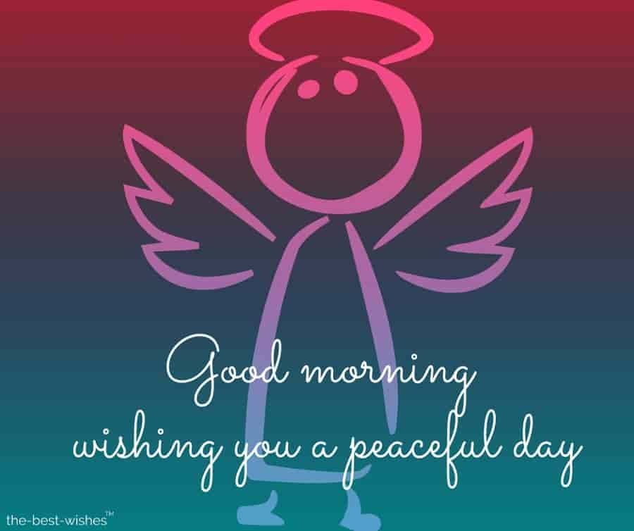 guardian angel photo wishing you a peaceful day