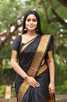 Poorna in Cute Backless Choli Saree Stunning Beauty at Avantika Movie platinum Disc Function ~  Exclusive 144.JPG