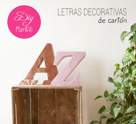 DIY: Letras decorativas de cartón