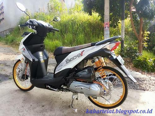 Gambar Modifikasi Motor Honda Beat Fi Velg 17 Velg 14
