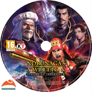 NOBUNAGA'S AMBITION Sphere of Influence Ascension DISC LABEL