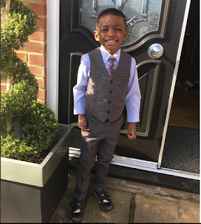 Eagles Striker, Odion Ighalo Celebrates His Son, Samuel Ighalo's 5th Birthday [Photos]