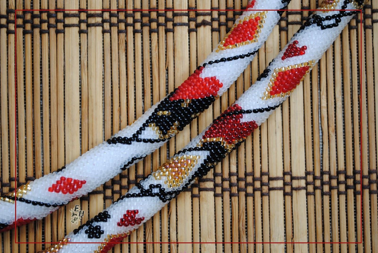 схема вязания жгутов на 6 бисерин крючком