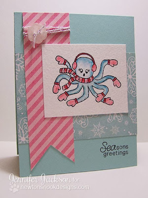 Octopus Holiday Card for Newton's Nook Designs Inky Paws Challenge #5