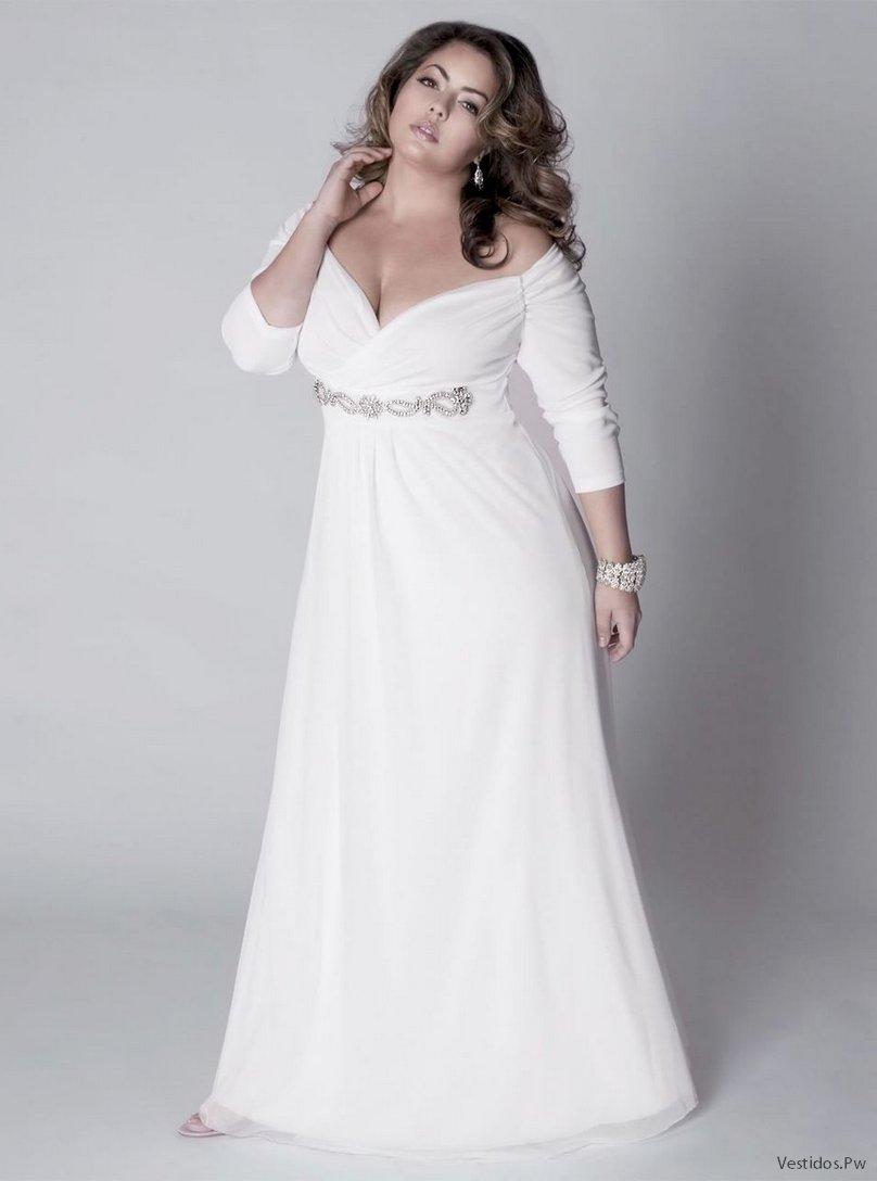 Vestidos para gorditas para matrimonio civil