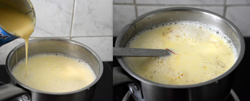 easy bread rasmalai with milkmaid